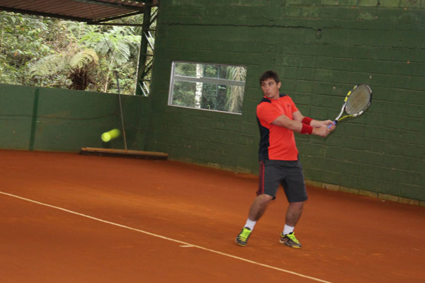 O clic do tenista Roberto Soares